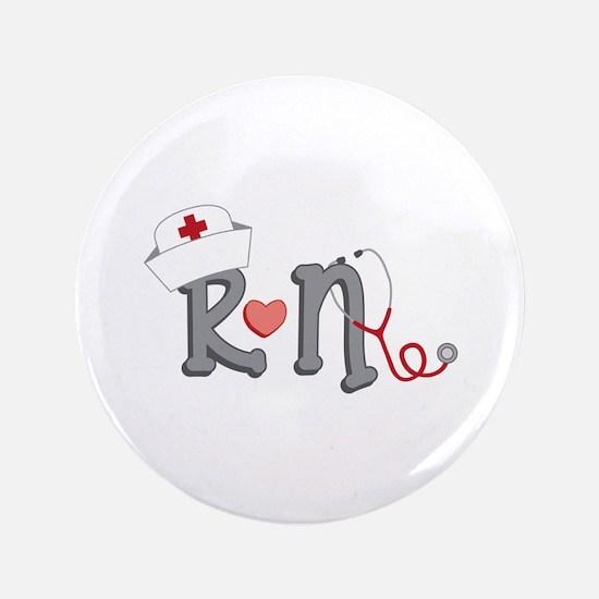 """Registered Nurse 3.5"""" Button"""