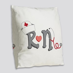 Registered Nurse Burlap Throw Pillow