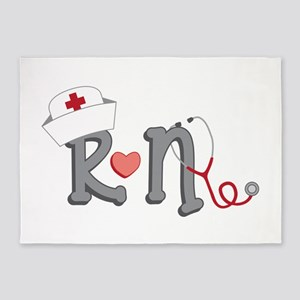 Registered Nurse 5'x7'Area Rug