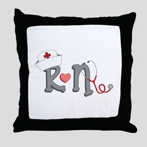Registered Nurse Throw Pillow