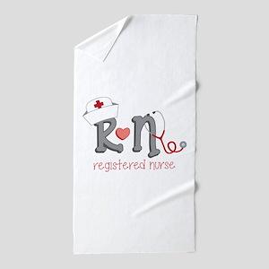Registered Nurse Beach Towel