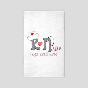 Registered Nurse 3'x5' Area Rug