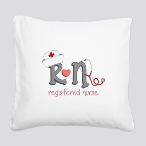 Registered Nurse Square Canvas Pillow