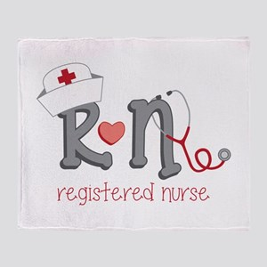 Registered Nurse Throw Blanket