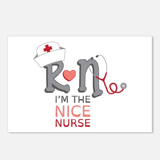 I'm The Nice Nurse Postcards (Package of 8)
