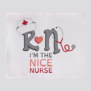 I'm The Nice Nurse Throw Blanket