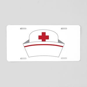 Nurse Hat Aluminum License Plate
