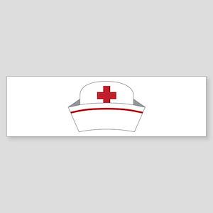 Nurse Hat Bumper Sticker