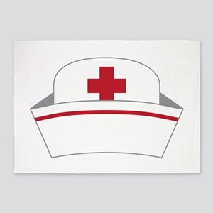 Nurse Hat 5'x7'Area Rug