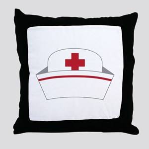 Nurse Hat Throw Pillow