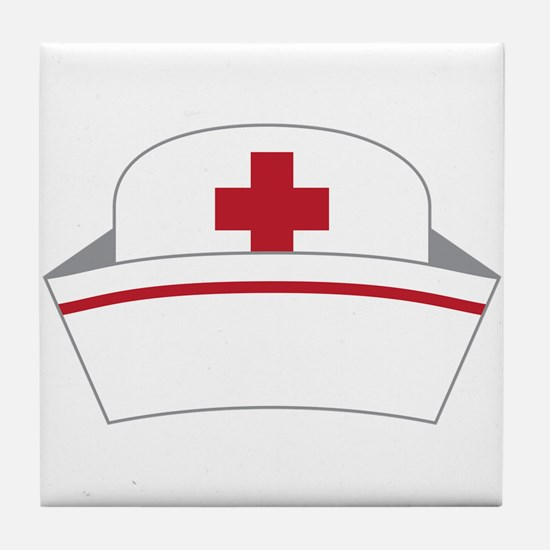 Nurse Hat Tile Coaster