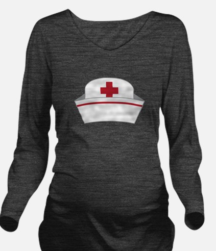 Nurse Hat Long Sleeve Maternity T-Shirt