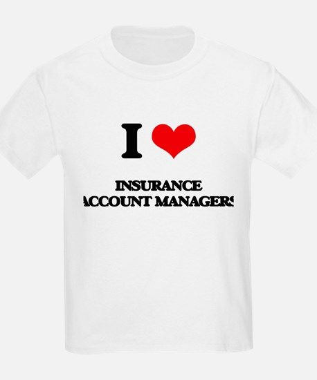 I love Insurance Account Managers T-Shirt