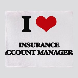 I love Insurance Account Managers Throw Blanket