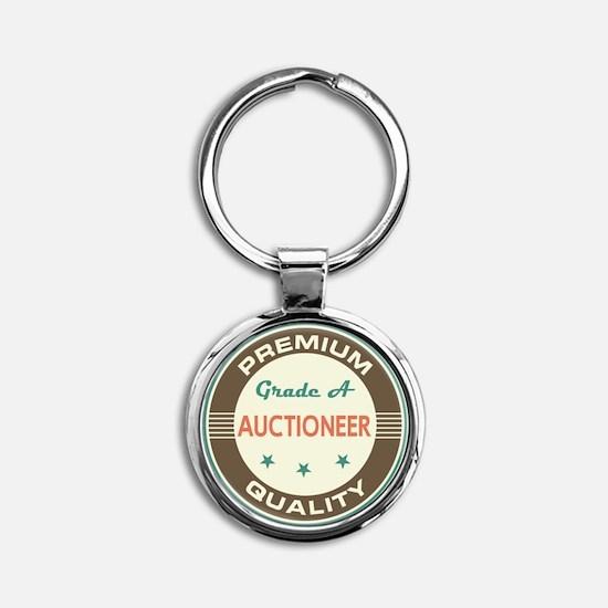 Auctioneer Vintage Round Keychain