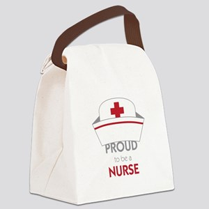 Proud To Be A Nurse Canvas Lunch Bag