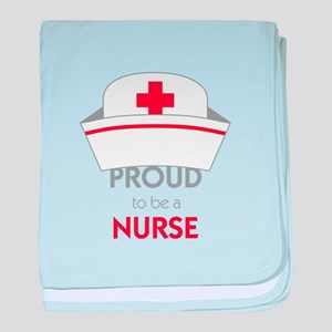 Proud To Be A Nurse baby blanket