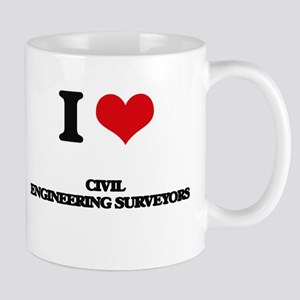 I love Civil Engineering Surveyors Mugs