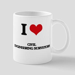 I love Civil Engineering Surveyors Mugs