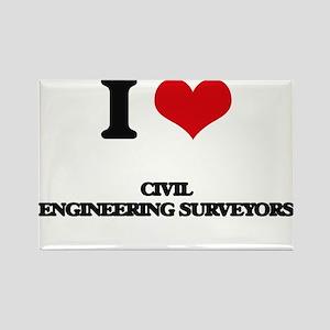 I love Civil Engineering Surveyors Magnets