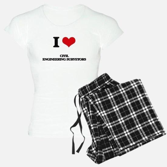 I love Civil Engineering Su Pajamas