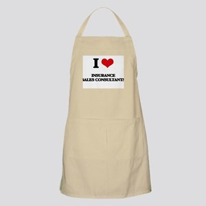 I love Insurance Sales Consultants Apron
