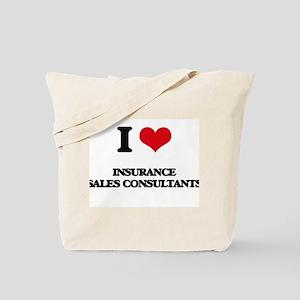 I love Insurance Sales Consultants Tote Bag