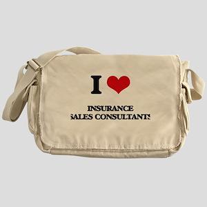 I love Insurance Sales Consultants Messenger Bag