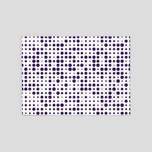 Purple Dots 5'x7'Area Rug