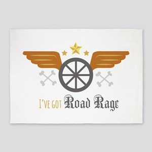 Road Rage 5'x7'Area Rug
