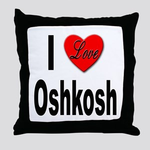 I Love Oshkosh Throw Pillow