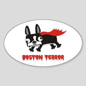 Boston Terror Oval Sticker