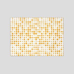 Orange Dots 5'x7'Area Rug