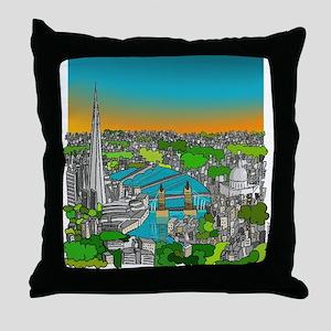 thames river Throw Pillow