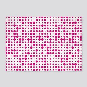 Hot Pink Dots 5'x7'Area Rug