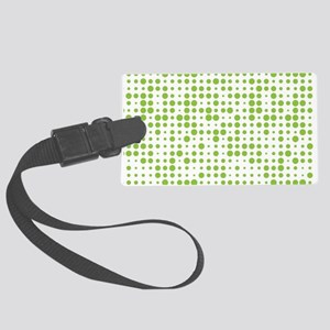 Green Dots Large Luggage Tag