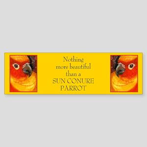 Sunny Conure Parrot Bumper Sticker