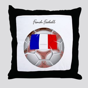 French Football Soccer Throw Pillow