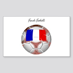 French Football Soccer Rectangle Sticker