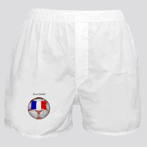 French Football Soccer Boxer Shorts