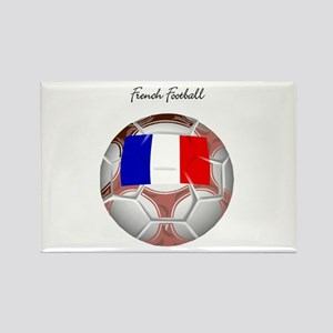 French Football Soccer Rectangle Magnet