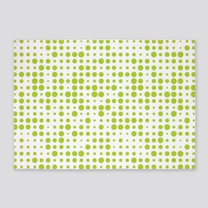 Lime Green Dots 5'x7'Area Rug