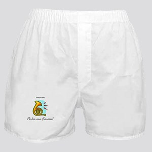French Horn French Language Boxer Shorts