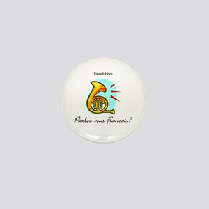 French Horn French Language Mini Button