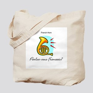 French Horn French Language Tote Bag