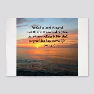 JOHN 3:16 5'x7'Area Rug