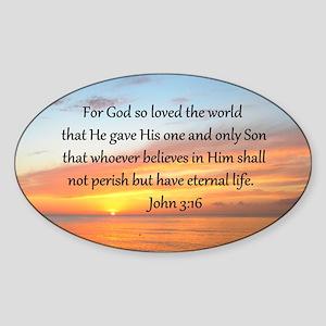 JOHN 3:16 Sticker (Oval)