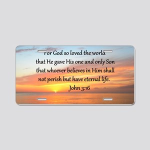 JOHN 3:16 Aluminum License Plate