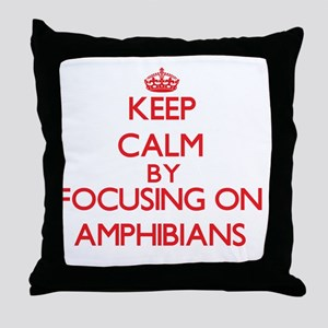Amphibians Throw Pillow