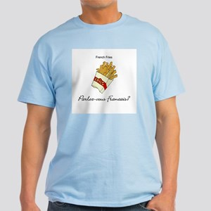 French Fries French Language Light T-Shirt
